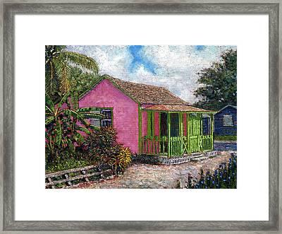 Aunt Suzy's Cottage Framed Print