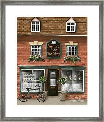Auntie Mae's Tea Shop Framed Print by Catherine Holman