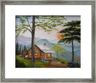 Auntie's Cabin Framed Print by RJ McNall