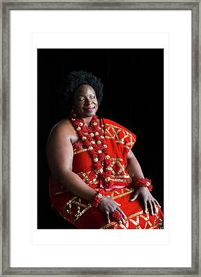 Aunty Jeanette Framed Print by Celebration Of African Women By Nubian Nights Out