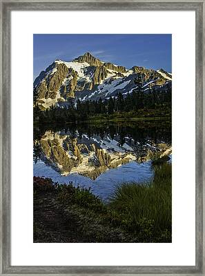 Aunumn Mountain Reflection Framed Print