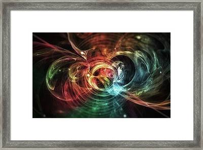 Aura Blaze #art #abstract #digitalart Framed Print by Michal Dunaj