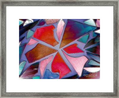 Aura In The Mirror Framed Print