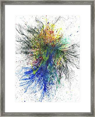 Aura Of The Starseeds #694 Framed Print by Rainbow Artist Orlando L aka Kevin Orlando Lau