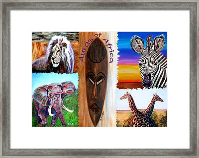 Auras Of Africa Framed Print