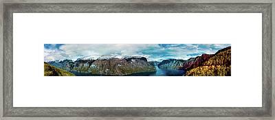 Aurlandsfjorden Panorama Revisited Framed Print