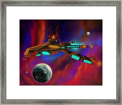 Framed Print featuring the painting Auroborus 2015 by James Christopher Hill