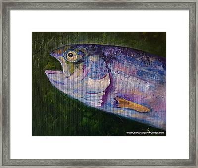 Aurons Rainbow Trout Framed Print