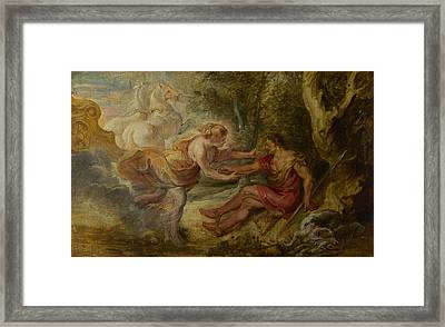 Aurora Abducting Cephalus Framed Print