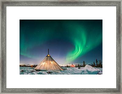Aurora Above Sami Tent Framed Print by Alex Conu