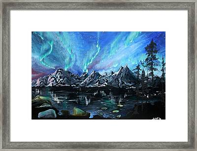 Aurora Borealis 1 Framed Print by Diane Peters