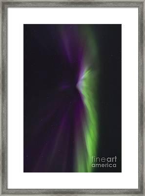 Aurora Borealis Crown Or Corona Framed Print