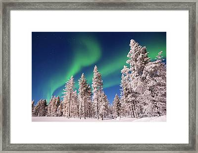 Aurora Borealis Framed Print by Delphimages Photo Creations
