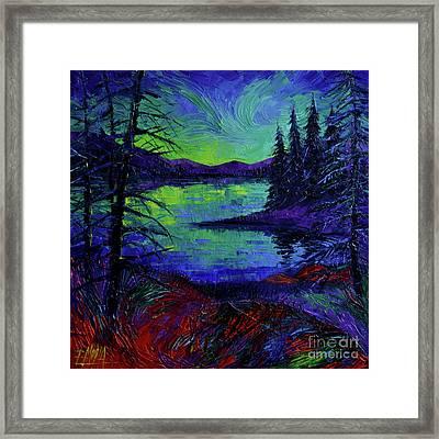 Aurora Borealis Dreamscape Framed Print
