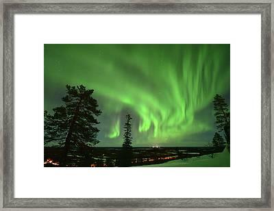 Aurora Borealis Framed Print by Edwin Verin