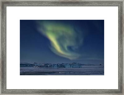 Aurora Borealis - Greenland Framed Print by Joana Kruse