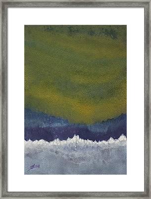 Aurora Borealis Original Painting Framed Print by Sol Luckman