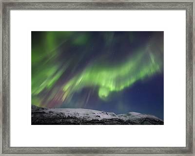 Aurora Borealis Over Blafjellet Framed Print by Arild Heitmann