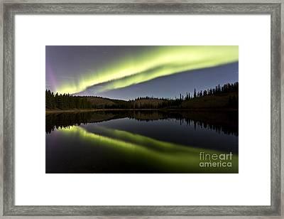 Aurora Borealis Over Hidden Lake Framed Print by Jonathan Tucker