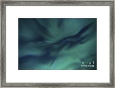 Aurora Borealis Over Sandstrand, Troms Framed Print by Arild Heitmann