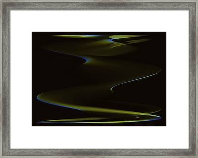 Aurora Borealis Over The Sand Dunes Framed Print by Angela A Stanton