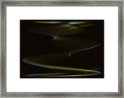 Aurora Borealis Over The Sand Dunes Framed Print