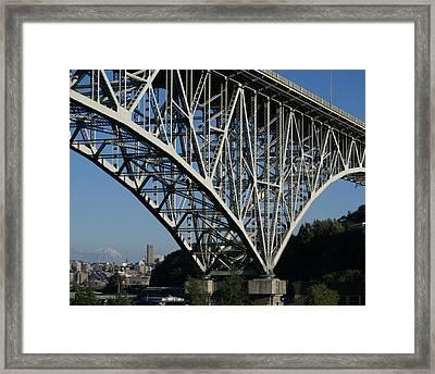 Aurora Bridge - Seattle Framed Print by Sonja Anderson