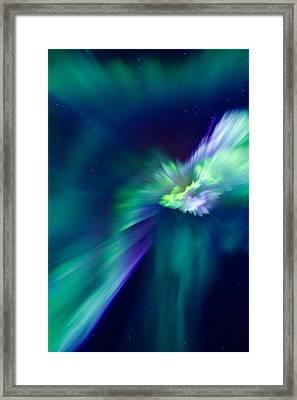 Aurora Corona Framed Print