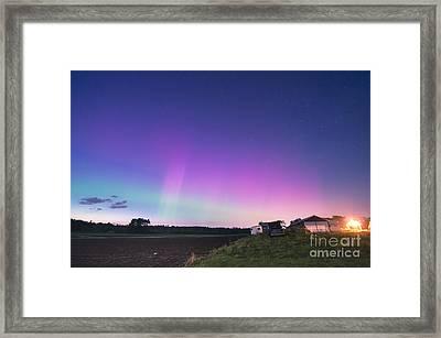 Aurora Energized Pepper Fields Framed Print