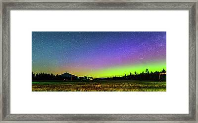 Framed Print featuring the photograph Aurora In Sisters by Cat Connor