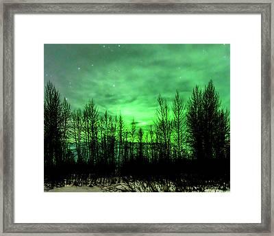 Aurora In The Clouds Framed Print