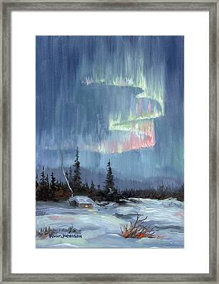 Aurora Lights Framed Print by Kurt Jacobson