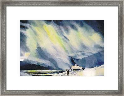 Aurora-lights Framed Print by Nancy Newman