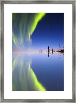 Aurora Mirrored Framed Print by Ed Boudreau