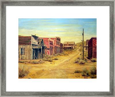 Aurora Nevada Framed Print by Evelyne Boynton Grierson