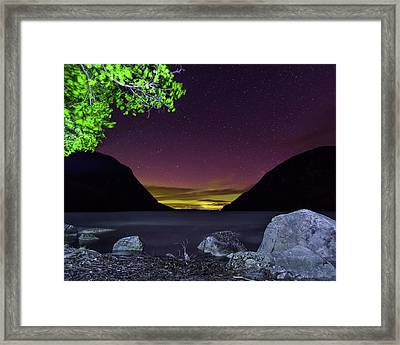 Aurora Over Lake Willoughby Framed Print by Tim Kirchoff