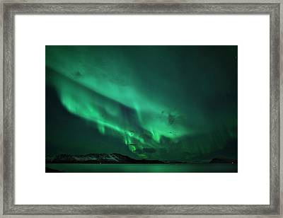 Aurora Over Seiland Framed Print by Espen Ørud