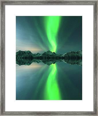 Aurora Powersurge Framed Print by Tor-Ivar Naess