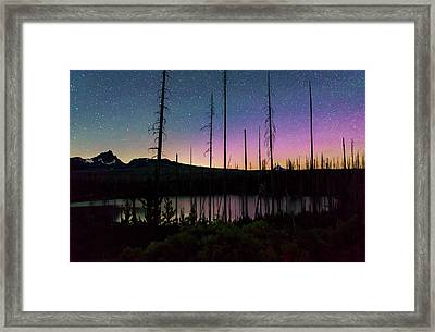 Framed Print featuring the photograph Aurora Reflections by Cat Connor