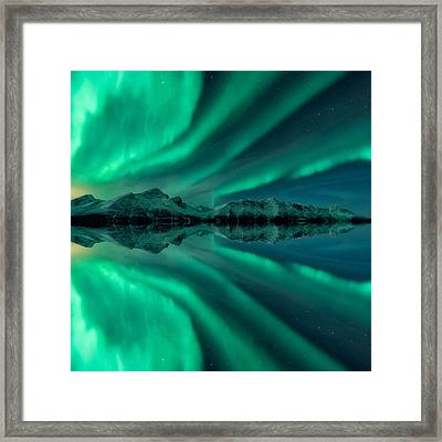 Aurora Square 2 Framed Print by Tor-Ivar Naess