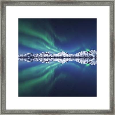 Aurora Square Framed Print by Tor-Ivar Naess