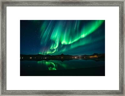 Aurora Surprise Framed Print by Tor-Ivar Naess