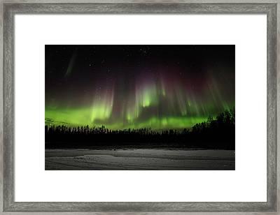 Aurora Wall Framed Print by Ed Boudreau