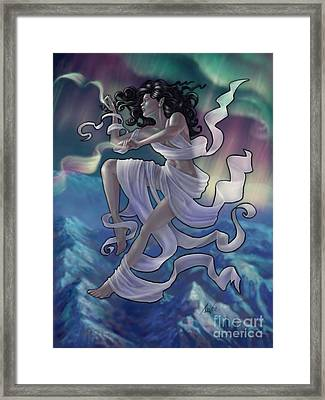 Framed Print featuring the digital art Aurora Weaver by Amyla Silverflame