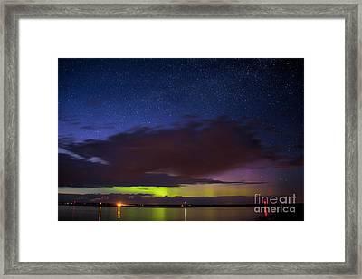 Auroras Over Lake Framed Print