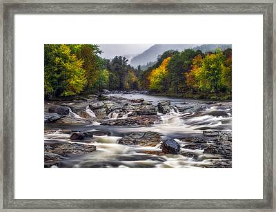 Framed Print featuring the photograph Ausable Cascades by Mark Papke