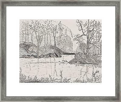 Ausable River At Rock Glen Framed Print