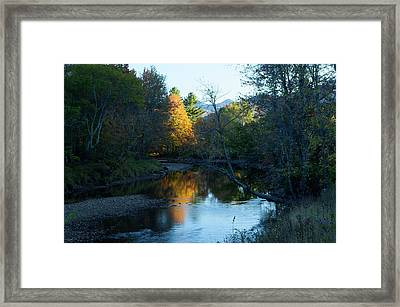Ausable River Autumn Framed Print