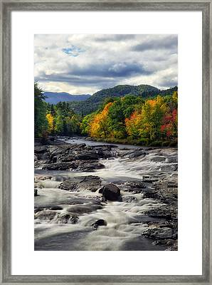 Framed Print featuring the photograph Ausable River Jay Ny by Mark Papke