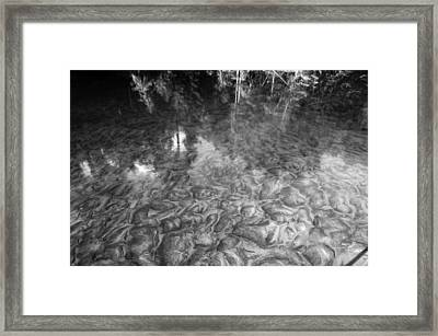 Ausable River Patterns Framed Print